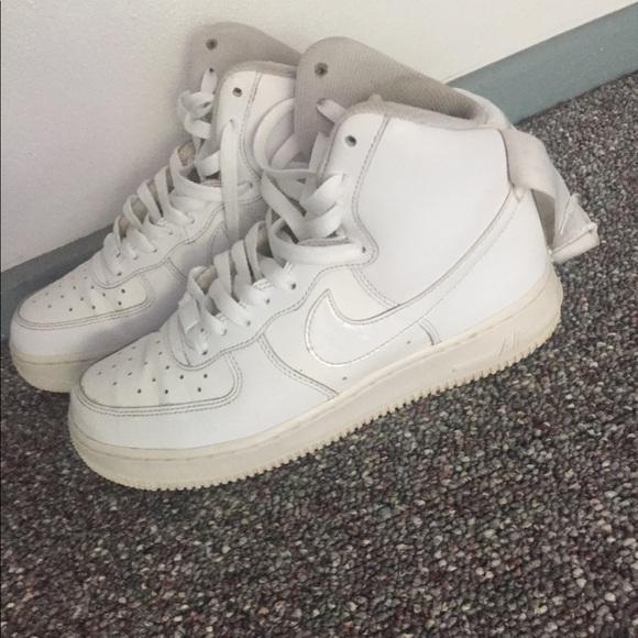 air force 1s white high top